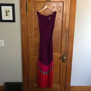 Liz Lange for Target - Maxi Dress Purple Pink Gray